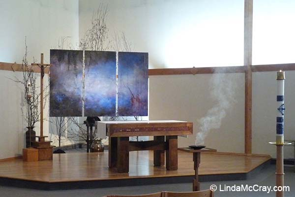 Liturgical Painting by Linda McCray